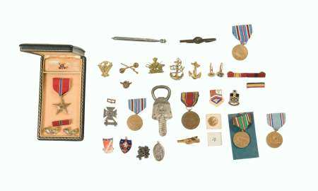WWII Military Lot inc. Bronze Star and More