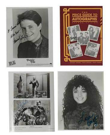 4 Michael J Fox, Peter Weller, Lisa Bonet Signed