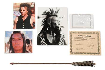 """""""Dances With Wolves"""" Signed Photos and Prop Arrow"""