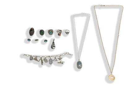 11 Piece Sterling Jewelry Lot Inc. Navajo, Zuni