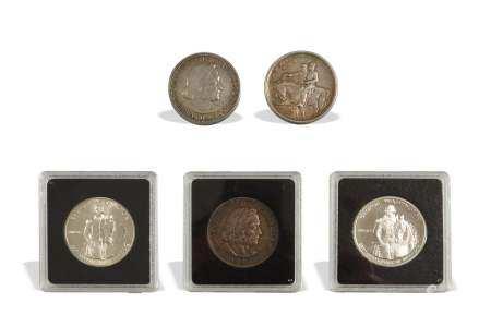 5, Silver Commemorative Half's, Stone Mount, Etc.
