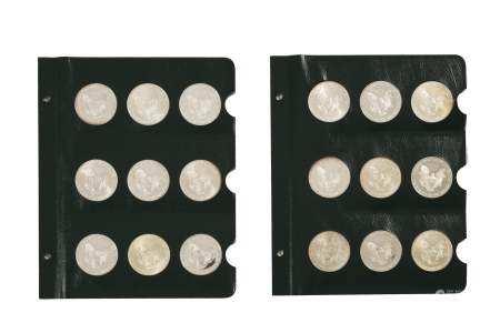 18 Am. Silver Eagle Dollars 1995-2003 Inc. Proofs