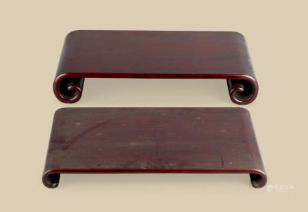 清代(1644~1911) 红木下卷 (二件一组)