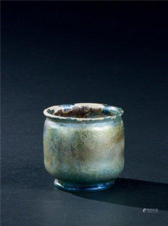 唐代(618~907) 蓝料杯