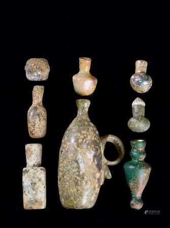 北魏(386~534) 各式古料器执壶 小瓶等 (八件一组)