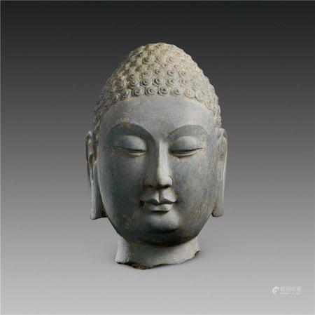 北齐(550~577) 石雕佛首