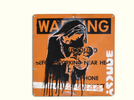 Banksy  圣母 涂鸦