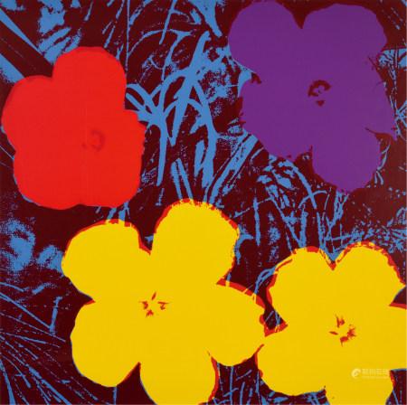 安迪·沃霍尔(1928-1987)  Flower 丝网版画