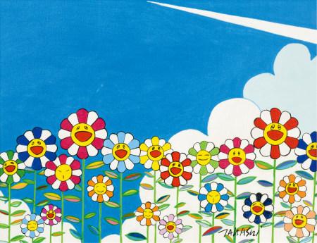 村上隆(b.1962)  太阳花 油画