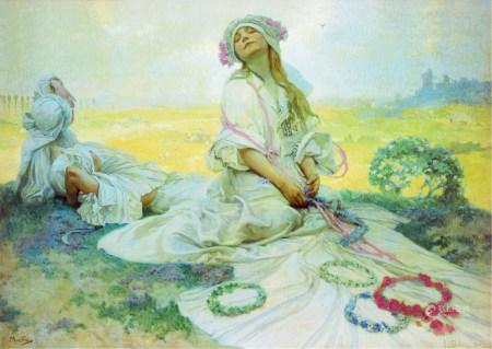 Alfons Maria Mucha  波西米亚之歌 版画
