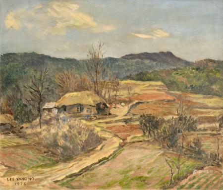 李亮鲁  村庄 油画