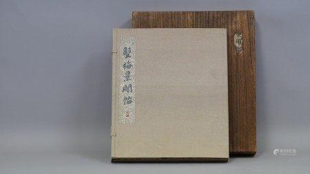 清代 双梅景阁帖 春宫图 十开册页  日本原盒