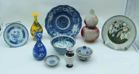 A collection of Chinese ceramics 22cm (Qty).