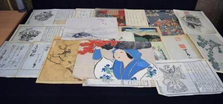 A folio of Japanese watercolours (19).