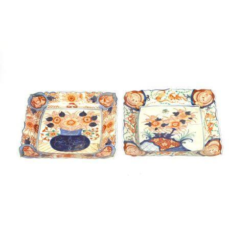 Set of Flower Pattern Imari Ware Plates