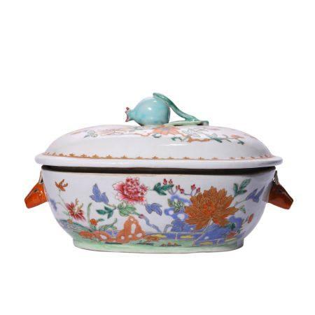 Flower Pattern Pastel Porridge Pot