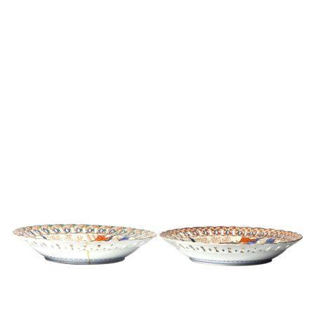 Figure and Shanshui Pattern Imari Ware Plates