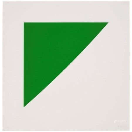 ELLSWORTH KELLY (1923-2015) Green Curve with Radius of 20', from For Meyer Schapiro