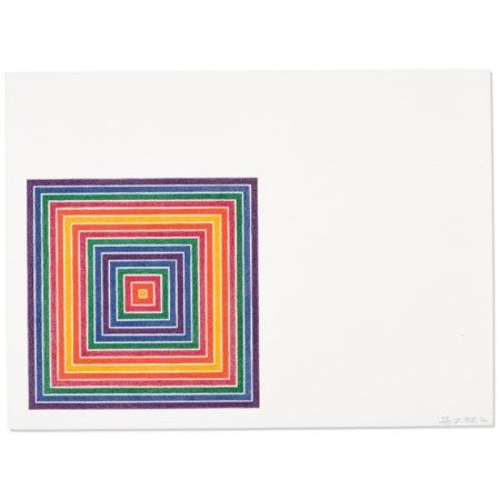 FRANK STELLA (B. 1936) Honduras Lottery Co., from Multicolored Squares I