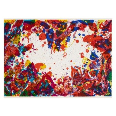 SAM FRANCIS (1923-1994) The East is Red (SF-103)