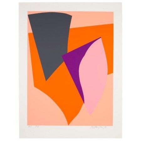RICHARD MORTENSEN (1910-1993) Untitled (Freie Formen auf Orange)