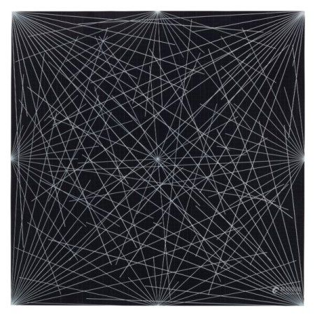 SOL LEWITT (1928-2007) Lines from Corners, Sides and the Center, to Points on a Grid (Black)