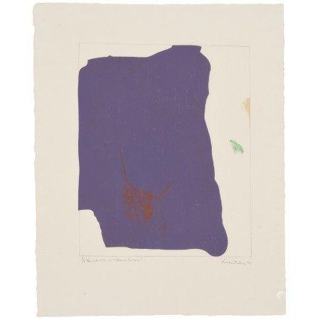 """HELEN FRANKENTHALER (1928-2011) Variation I on """"Mauve Corner"""""""