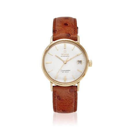 OMEGA. A GOLD FILLED AUTOMATIC CALENDAR WRISTWATCH Seamaster DeVille, c.1960s