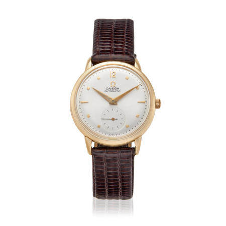 OMEGA. A 14K GOLD FILLED AUTOMATIC WRISTWATCHRef: F6212, c.1950s