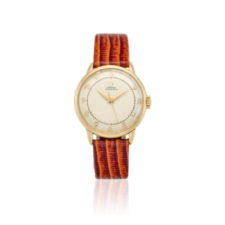 OMEGA. A 14K GOLD FILLED AUTOMATIC WRISTWATCHRef: G6213, c.1950s