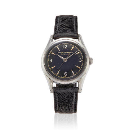 GIRARD PERREGAUX. A STAINLESS STEEL AUTOMATIC WRISTWATCHRef: 6213, c.1940s