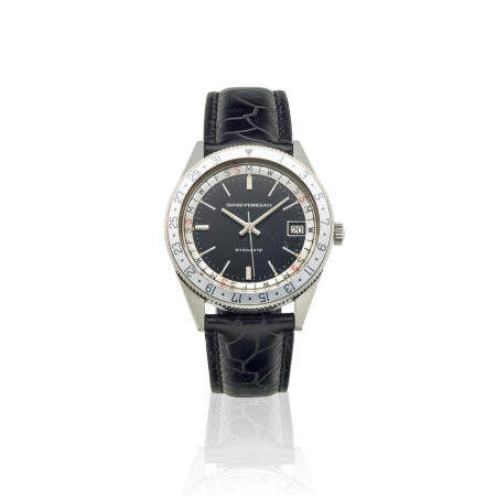 GIRARD PERREGAUX. A STAINLESS STEEL AUTOMATIC CALENDAR WATCH  Gyrodate, Ref: 9080, c.1960s