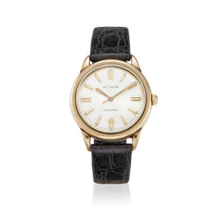 JAEGER LECOULTRE. A 10K GOLD FILLED AUTOMATIC BUMPER WATCH
