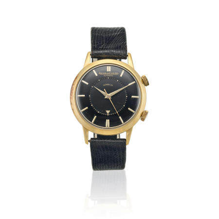 JAEGER LECOULTRE. A GOLD FILLED AUTOMATIC WRISTWATCH WITH ALARM RETAILED BY GUBELIN Memovox, Ref: 855,
