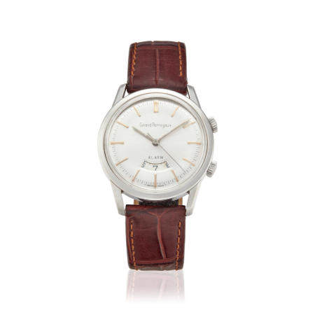 GIRARD PERREGAUX. A STAINLESS STEEL MANUAL WIND WRISTWATCH WITH ALARMc.1960s