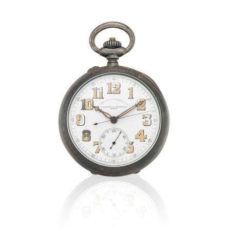 VACHERON CONSTANTIN. A SILVER OPENFACE MILITARY CHRONOGRAPH MADE FOR THE U. S. ARMY CORPS OF ENGINEERS1918