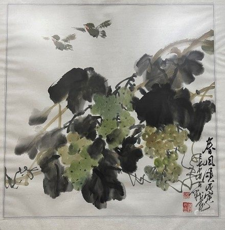 Chinese Painting Ink and Color on Paper by Li Baizhan