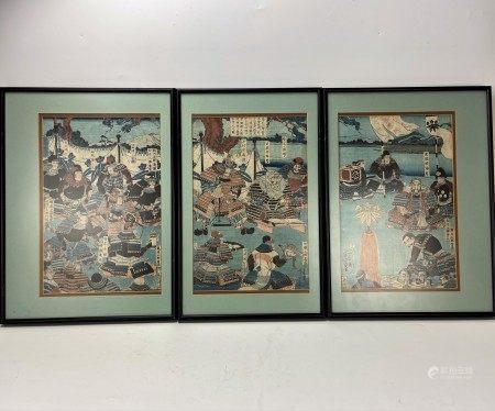 Japanese  Woodblock Print Utagawa Yoshikazu (歌川芳員)