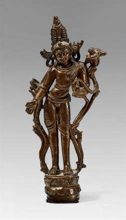 A West Tibetan bronze figure of a bodhisattva. 11th/12th century