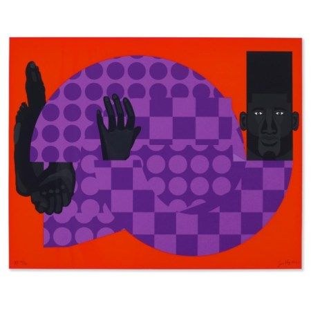 JON KEY (B. 1990) The Man in the Violet Suit (Red No. 1)