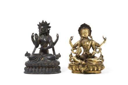 TIBET début XXe siècle Deux bronzes