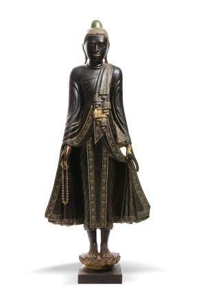 BIRMANIE XIXe siècle Importante sculpture