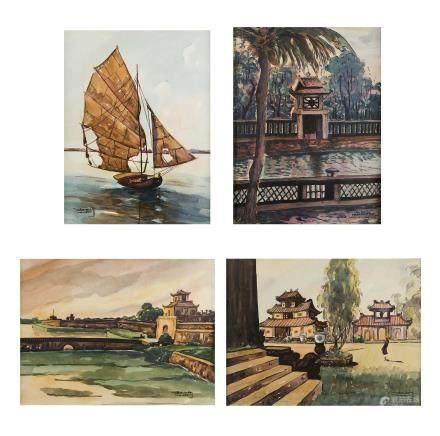 Hanoi vers 1930 Thien Dam