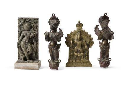 INDE début XXe siècle Lot de quatre objets