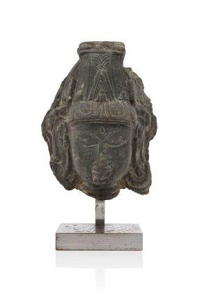 IINDE médiévale, XI-XIIe siècle Tête de shiva en chlorite