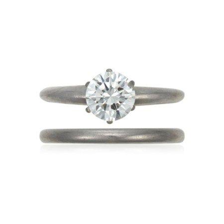 TIFFANY & CO. DIAMOND RING AND BAND