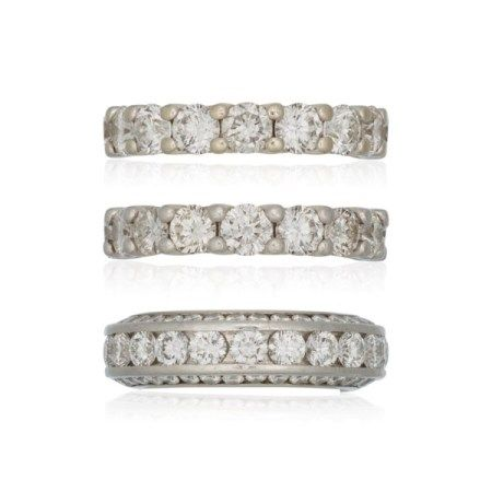 THREE DIAMOND ETERNITY BANDS