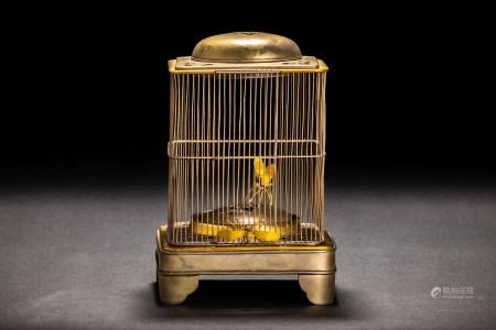 時代 銅鎏金 虫籠形 香炉