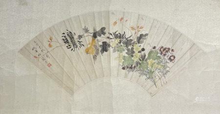 梅兰芳花鸟扇面 MeiLanfang Fan