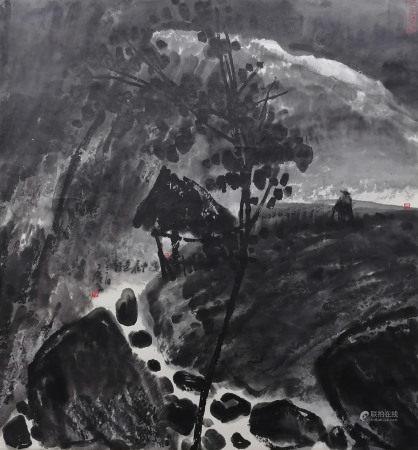 曾宓山中夜色 Zengmi Landscape
